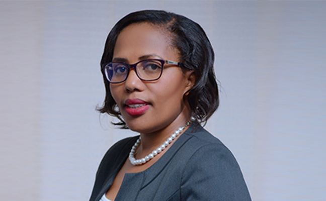 Peace Kabunga, the Executive Director, Housing Finance Bank